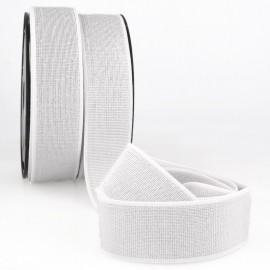 Elastique METAL Souple 40mm coloris Blanc et lurex Argent
