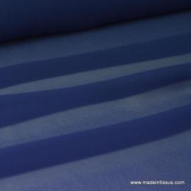 Tissu Mousseline fluide Bleu Marine