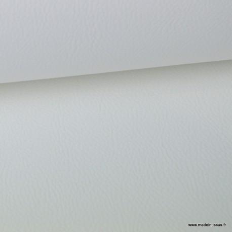 Tissu Simili cuir ameublement rigide Blanc