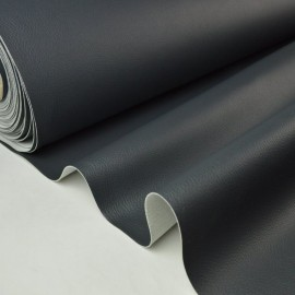 Tissu Faux cuirs ameublement rigide gris ardoise .x1m