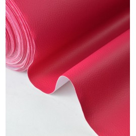 Tissu Simili cuir ameublement rigide fuchsia .x1m