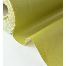 Tissu Simili cuir ameublement rigide fenouil .x1m
