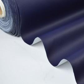 Tissu Simili cuir ameublement rigide MARINE .x1m