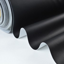 Tissu Simili cuir ameublement rigide noir