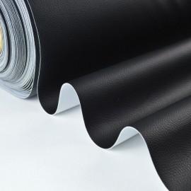 Tissu Simili cuir ameublement rigide noir .x1m
