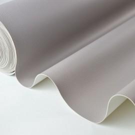 Tissu Simili cuir ameublement rigide gris pierre .x1m