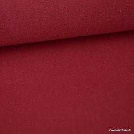 Tissu toile de coton demi natté gratté vintage cerise