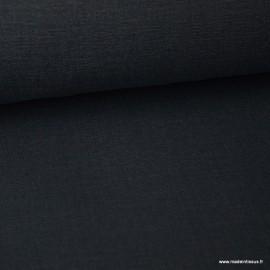 Tissu toile de coton demi natté gratté vintage anthracite