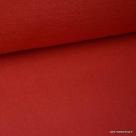 Tissu toile de coton demi natté gratté vintage rouge