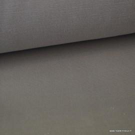 Tissu toile de coton demi natté gratté vintage gris