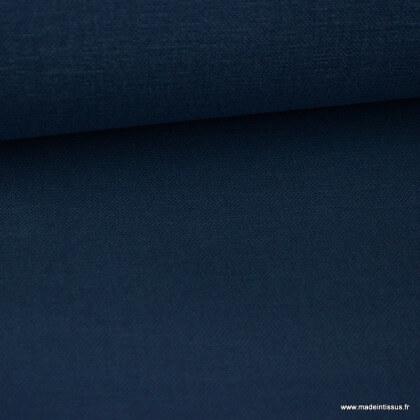 Tissu toile de coton demi natté gratté vintage jean