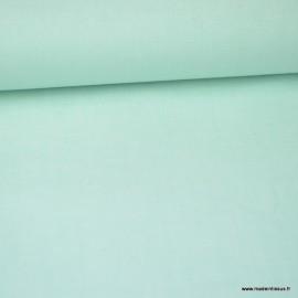 Tissu popeline coton uni tissé teint chambray coloris Vert MENTHE x1m