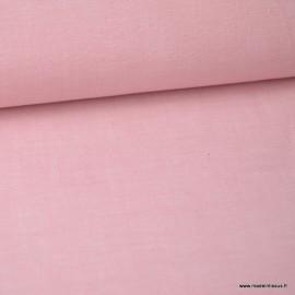 Tissu popeline chambray Vieux rose