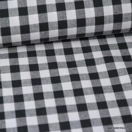 Tissu vichy grands carreaux coloris Noir