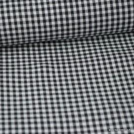 Tissu vichy petits carreaux coton NOIR  .x1m