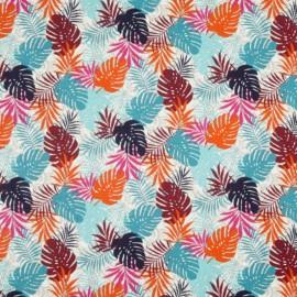 Tissu coton imprimé feuilles de Palme Exotique