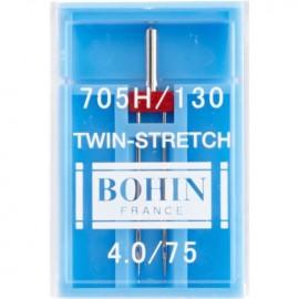 1 Aiguille double pour machine spécial stretch Bohin