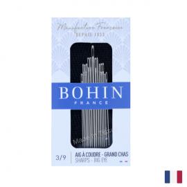 "Aiguilles à coudre assorties couture main ""Grand Chas"" BOHIN N°3/9"