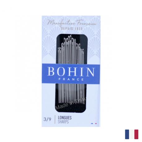 "Aiguilles à coudre assorties couture main ""longue"" BOHIN N°3/9"