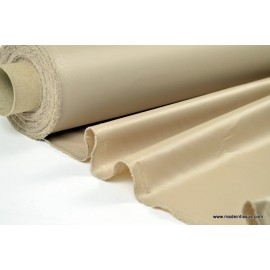 Tissu leger imperméable étanche polyester enduit acrylique beige