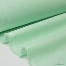 Tissu gabardine sergé polyester coton coloris menthe