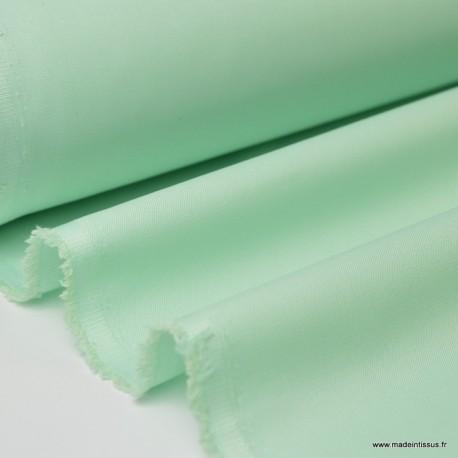 Tissu gabardine sergé polyester coton coloris émeraude