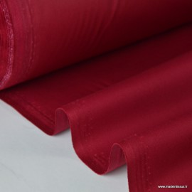 Tissu gabardine sergé polyester coton coloris hermès