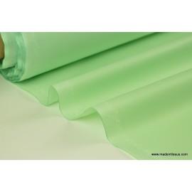 Tissu imperméable étanche polyester enduit acrylique menthe.