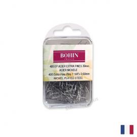 Epingles Extra Fine en acier nickelé N°4 Bohin x400