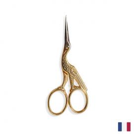 Ciseaux à broder Cigogne Doré 9 cm BOHIN France