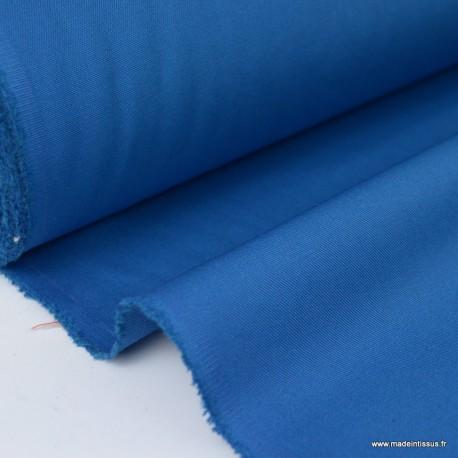 Tissu gabardine sergé polyester coton coloris petrole