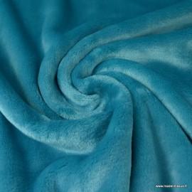 Tissu doudou ultra doux, lourd, Turquoise