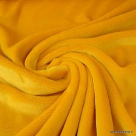 Tissu doudou ultra doux, lourd, JAUNE