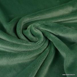 Tissu doudou ultra doux, lourd, vert amande
