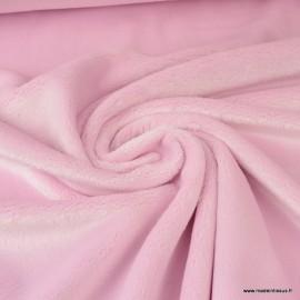 Tissu doudou ultra doux, lourd, rose
