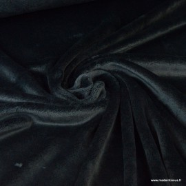 Tissu doudou ultra doux, lourd, noir x1m