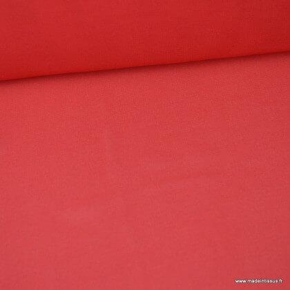 Tissu Mousseline fluide Rouge