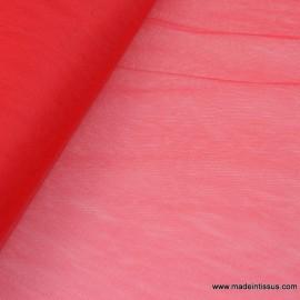 Tissu Tulle souple robe de mariée rouge en 3.00m de large .
