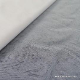 Tissu Tulle souple robe de mariée ivoire naturel en 3.00m de large .