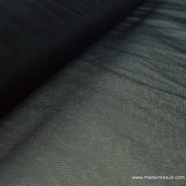 Tissu Tulle souple robe de mariée noir en 3.00m de large .