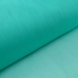 Tissu Tulle souple robe de mariée Vert emeraude en 3.00m de large .