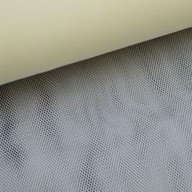 Tissu Tulle raide coloris ivoire 100% polyamide 300cm 27gr/m² .