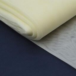 Tulle raide coloris ivoire 100% polyamide 300cm 27gr/m²