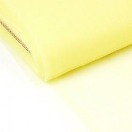 Tissu Tulle souple coloris jaune fluo en 300cm.