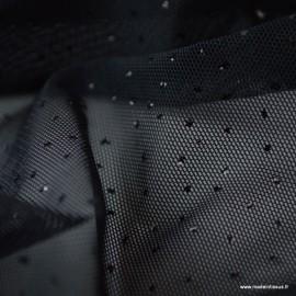 Tissu Tulle élastique pailleté Noir