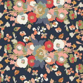Tissu coton prenium imprimé fleurs de Maureen Cracknell pour Art Gallery Fabrics .x1m