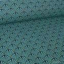 Tissu cretonne coton imprimée Ecailles Canard .x1m