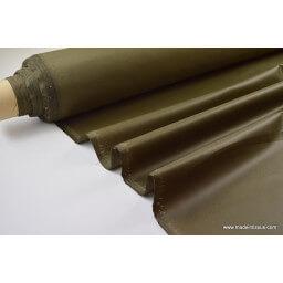 Tissu leger imperméable étanche polyester enduit acrylique kaki