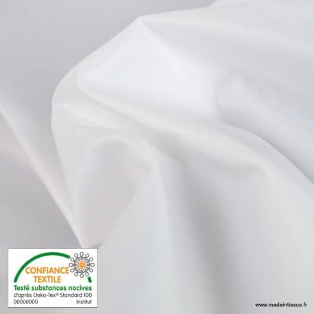Tissu PUL enduit Blanc lavable à 90° et Passage au sèche-linge
