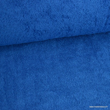 Tissu Eponge 100% coton Bleu Royal
